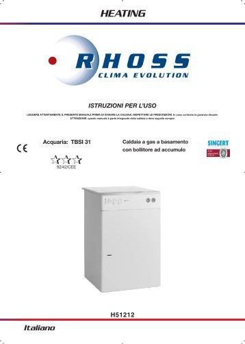 H51212-v07 Manuale Istr. per l'uso TB/SI 31 3STELLE - Rhoss