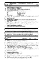 BEZPEČNOSTNÍ LIST (v souladu s nařízením ES 1907 ... - Novato