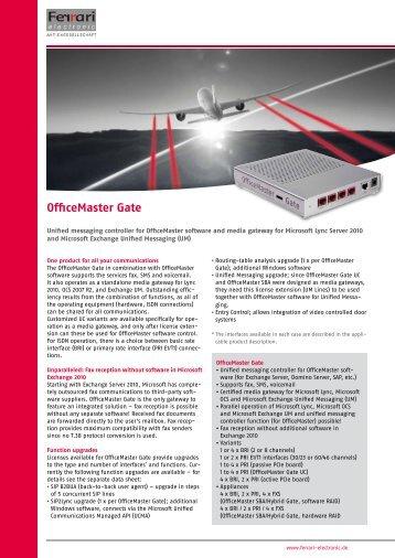 OfficeMaster Gate - Ferrari electronic