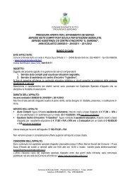 procedura aperta per l'affidamento dei servizi: servizio aiuto compiti ...