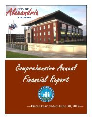 Comprehensive Annual Financial Report - Virginia Auditor of Public ...