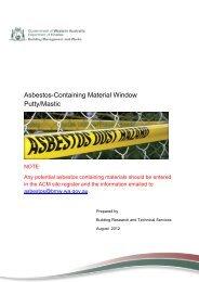 Asbestos-Containing Material Window Putty/Mastic
