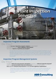 Plant Inspection Services - ABS Consulting