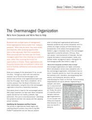 The Overmanaged Organization - Booz Allen Hamilton