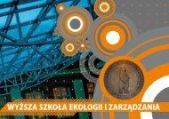 Informator na rok 2012/13 - Wyższa Szkoła Ekologii i Zarządzania