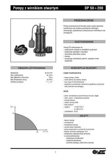 Pompy z wirnikiem otwartym DP 50÷200 - LFP