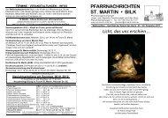 PFARRNACHRICHTEN ST. MARTIN • BILK Licht, das uns erschien …
