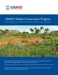 USAID'S Global Conservation Program