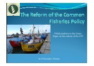 Polish position to the Green Paper on the reform of the CFP