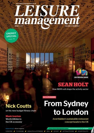 Leisure Management issue 4 2011 - Leisure Opportunities