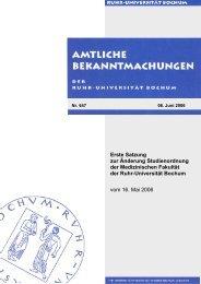 Erste Satzung zur Änderung Studienordnung der Medizinischen ...