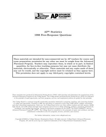 1998 ap psychology free response Psychology with mr duez ap psychology free response questions: all 1992 1998 (5 content areas.