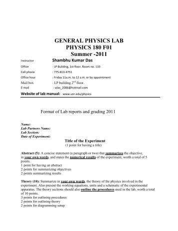 physics lab format - Mersn.proforum.co