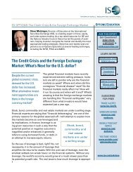 the credit crisis and the Foreign Exchange Market: What's ... - ISE.com