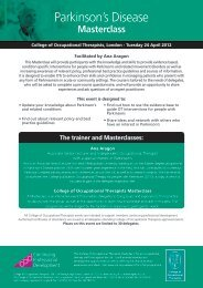 Parkinson's Disease - College of Occupational Therapists
