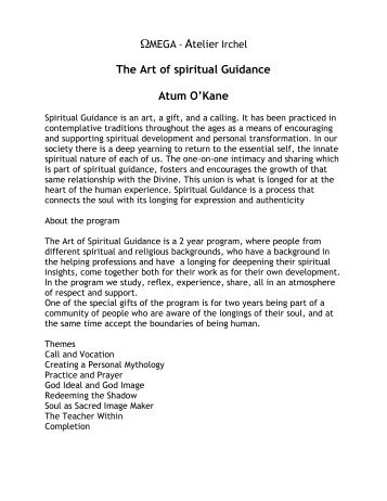 Spiritual Guidance, english 2011 - Sufi Zentrum Omega