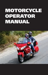 MOTORCyCLE OPERATOR MANUAL - Highways and Public Works