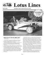 V8 ESPRIT - Evergreen Lotus Car Club
