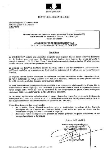 Prefet De La Region Picardie Prefecture De L Aisne