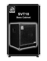 SVT18 Bass Cabinet - Ampeg