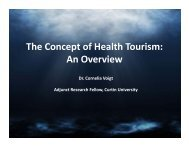 The Concept of Health Tourism: An Overview - Curtin Business School