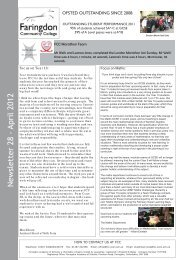 Newsletter 28 - April 2012 - Faringdon Community College