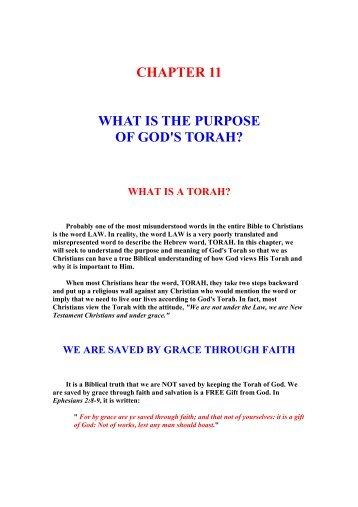What Is The Purpose Of God's Torah - Unleavened Bread