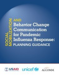 Social Mobilization and Behavior Change Communication for