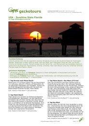 USA - Sunshine State Florida - Mit Europcar auf Reisen
