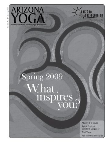 Spring 2009 - Arizona Yoga Association