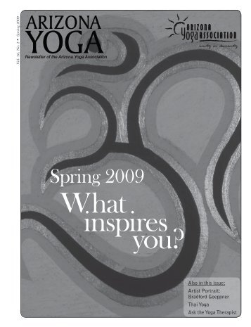 Spring 2009 - Arizona Yoga Association