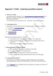 Øvelser/opgaver til kerneteksten - SamfNU - Systime
