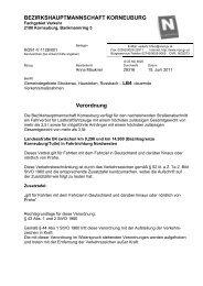 Verordnung Korneuburg B4 - Transporteure