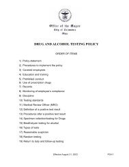 Drug and Alcohol policy - Department of Human Resources ...