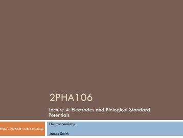 2PHA206 Chemistry for Pharmacy (II) - James Smith