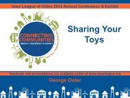 Sharing Your Toys - Iowa League of Cities