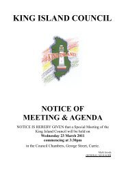 Agenda 23 March 2011 - Special Meeting - King Island Council
