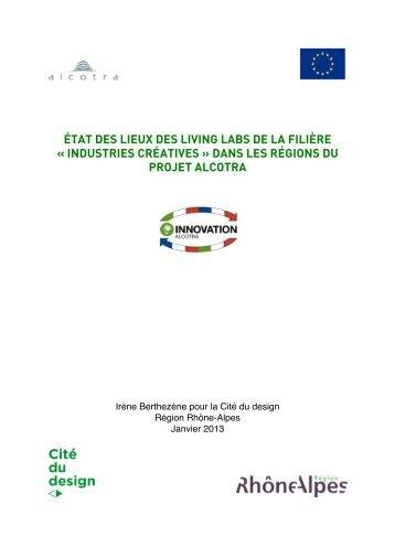 état des lieux des living labs de la filière « industries créatives