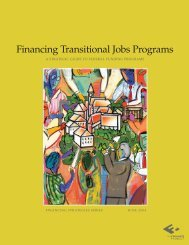 Financing Transitional Jobs Programs - The Finance Project