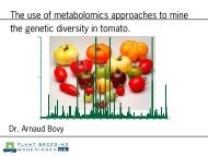 The use of metabolomics approaches to mine - Wageningen UR