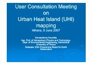 User Consultation Meeting on U b H t I l d (UHI) Urban Heat Island ...