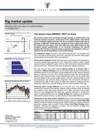Rig market update - Fondsfinans