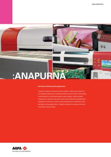 :ANAPURNA; One Family. Unlimited printing Applications.; English ...