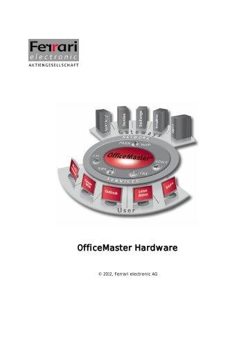 1 Product description - Ferrari electronic AG