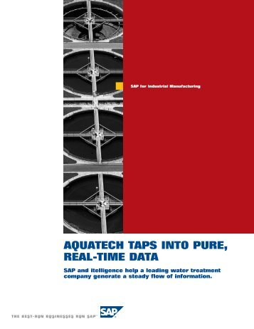AQUATECH TAPS INTO PURE, REAL-TIME DATA - itelligence