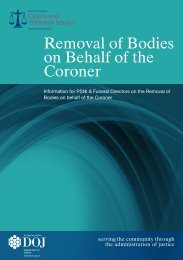 Removal of Bodies on Behalf of the Coroner - Northern Ireland Court ...