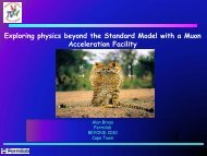 Exploring physics beyond the Standard Model with a Muon ...