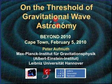 Gravitational Wave - Home-Page H.V. Klapdor-Kleingrothaus