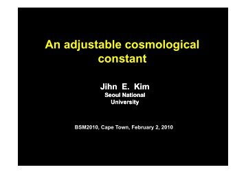 An adjustable cosmological An adjustable cosmological constant