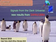 Signals from the Dark Universe - Home-Page H.V. Klapdor ...